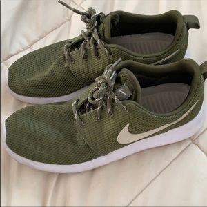 Olive green Nike roshe